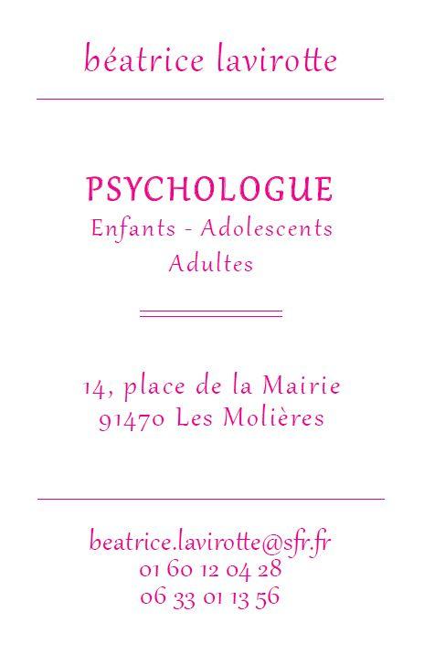 Carte De Visite Personnalisee Pour Une Psychologue