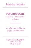 Carte de visite personnalisée pour une psychologue