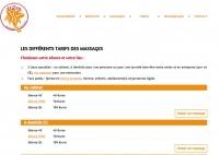 Elizen - Massages personnalisés Tarifs