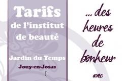 Tarifs Jardin du Temps - Jouy 2012