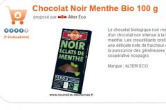 Tnikuy- voeux 2012 Chocolat AlterEco Menthe