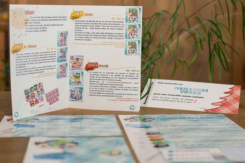 Catalogue et autres supports papier pour BOUTCHOUWORLDONLINE