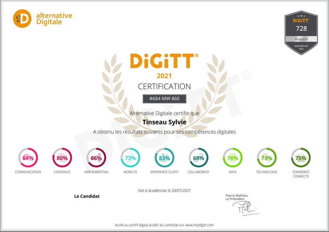 Certification DiGitt Juillet 2021