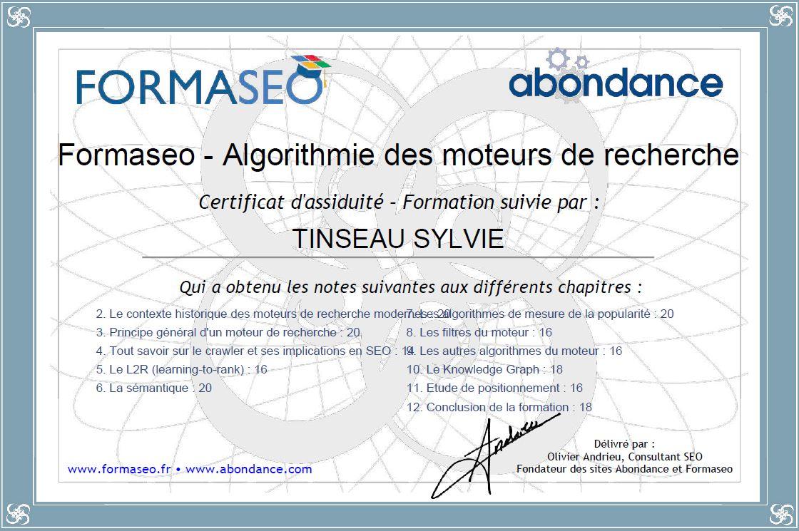 Certificat de Formation - Algorithmie des moteurs de recherche - Formaseo-IXLabs